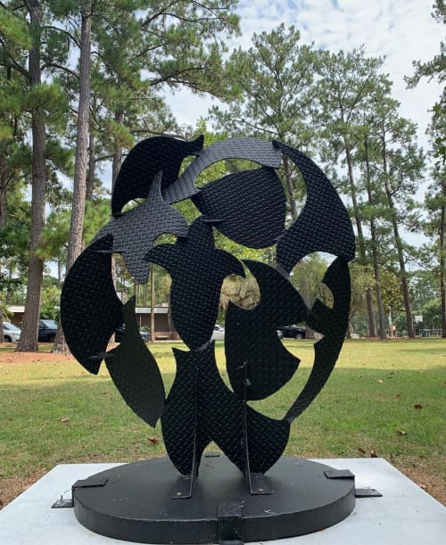 """Public Sculptures by David Hayes at Albert """"Ray"""" Massey (Westside) Playground, Gainesville - Screen sculpture number 83"""
