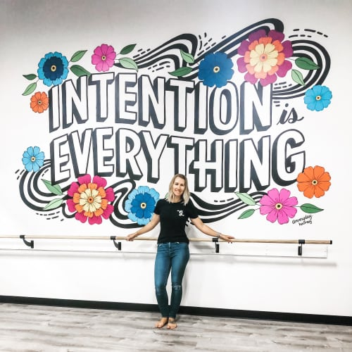Murals by Everyday Hooray seen at Beets Cycle   Barre, Livermore - Intention is Everything