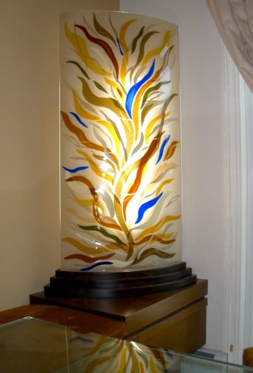 5' Tree of Life Light Sconce/Sculpture | Sconces by Bonnie Rubinstein Glass Studio