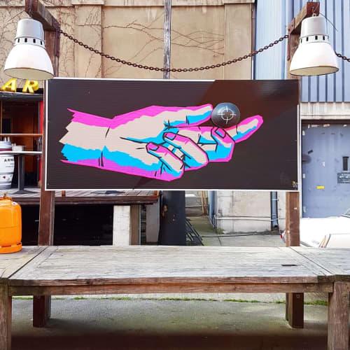 Tape Artwork   Paintings by Fabifa   Sage Beach in Berlin