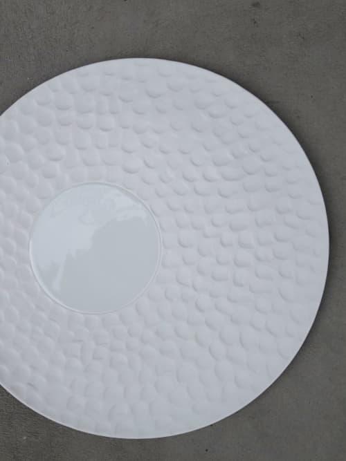 Texture plate Escamas   Ceramic Plates by Mieke Cuppen   Inter Scaldes in Kruiningen