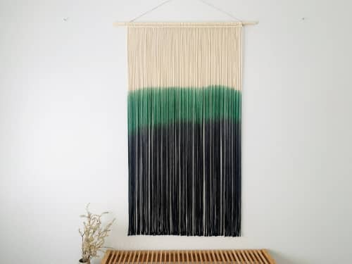 Macrame Wall Hanging by Love & Fiber seen at Private Residence, San Diego - Large Dyed Macrame Wall Hanging / Woven Tapestry
