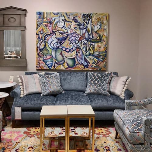 Creation | Paintings by Debbie Daise Art    @Debbiedaiseart | Ambella Home Collect Corporate in Dallas