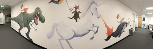 Murals by Scott Willis at Microsoft, Sunnyvale - Microsoft Office Mural