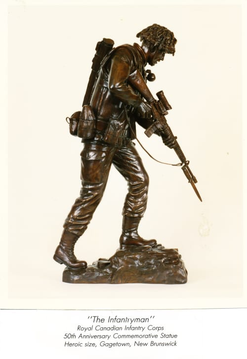 Infantryman, The   Public Sculptures by Don Begg / Studio West Bronze Foundry & Art Gallery
