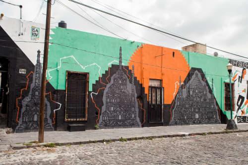 Street Murals by Isakov seen at Barrio de Analco, Heroica Puebla de Zaragoza - Barrio de Analco Mural