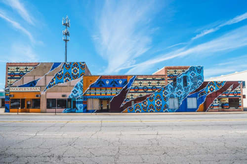 Native | Street Murals by Add Fuel | Snooper's Barn Used Book Store in Fort Smith