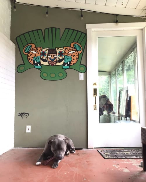 Murals by BAMR the Artist seen at Private Residence, Carmichael - Spirit Animal