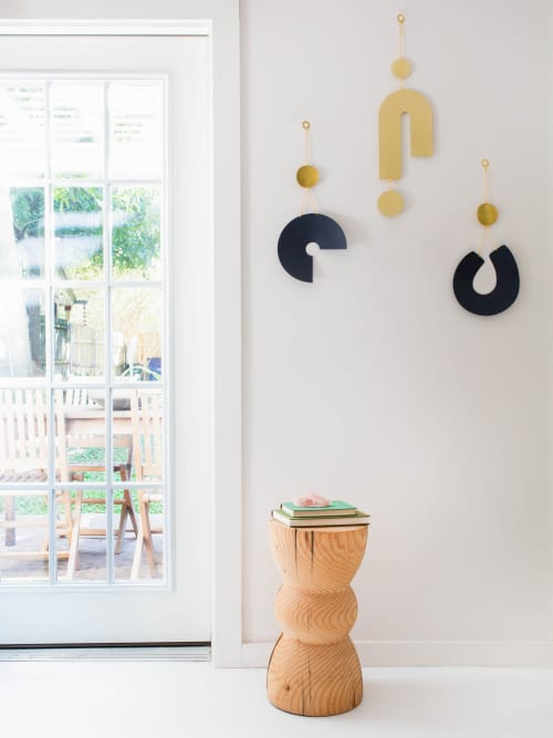 Turn Wall Hanging in Polished Brass | Sculptures by Circle & Line