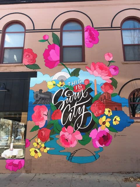 This is Sioux City Mural   Public Art by Jenna Brownlee
