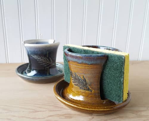 Sponge Holder   Tableware by Orna's Pottery   Private Residence, Seattle in Seattle