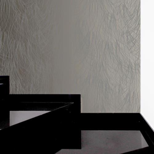 Wallpaper by Jill Malek Wallpaper - Shag   Steel Wool