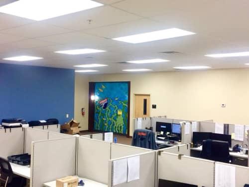 Indoor Office Mural | Murals by Ryan Frizzell (The Rhinovirus) | Interstate Logistics in Murfreesboro