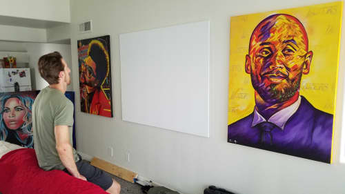 Paintings by Trent Moats Art - Mamba Mentality