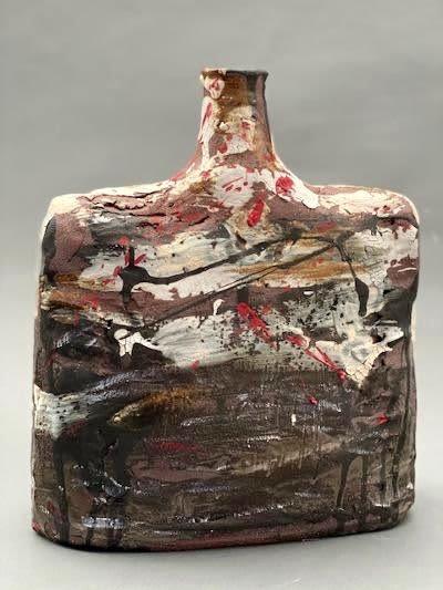 Sculptures by Mary Mcgill Ceramics seen at 2222 Ventura Blvd, Camarillo - Ceramic Bottle