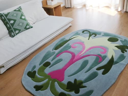 Rugs by Tuft Love Studio seen at Private Residence, Suzhou - Rebirthing Geyser
