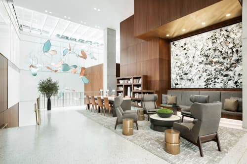 'Gathering' Installation for AC Hotels | Art & Wall Decor by Indiewalls | Design With Art | AC Hotel New York Times Square in New York