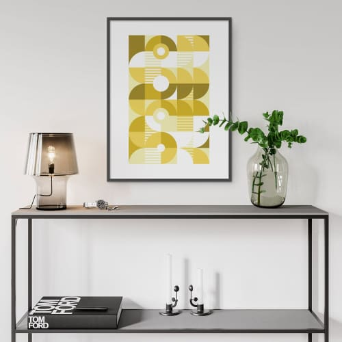 Art & Wall Decor by Michael Grace & Co seen at Creator's Studio, Seattle - Monochromatic Machine in Gold Art Print