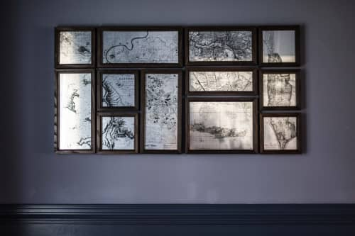 Wall Hangings by Alicia Dietz Studios seen at Private Residence, Columbus - Oh, The Places You've Been