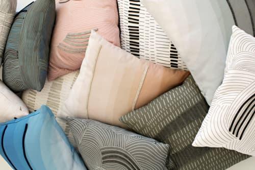Pillows by Jill Malek Wallpaper - New—Linen + Dimensional Felt Pillows!