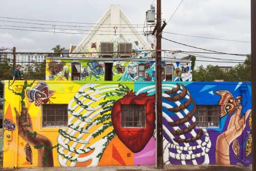 No Guts, No Glory | Murals by Julia Morgan (Aerose Art) | Curious Theatre Company in Denver