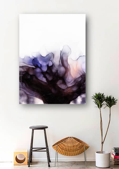 BLACK ORCHID II | Paintings by Christina Twomey Art + Design