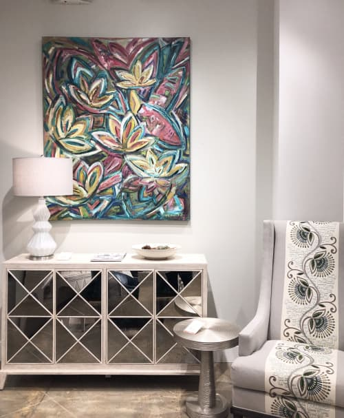 Lotus Land | Paintings by Debbie Daise Art    @Debbiedaiseart | Ambella Home Collect Corporate in Dallas