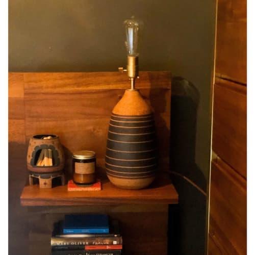 Lamps by Amanda Medak Ceramics seen at Private Residence, Los Angeles - Ceramic Lamp