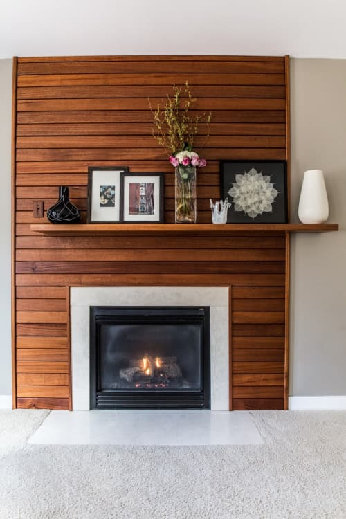 Fireplaces by Alicia Dietz Studios seen at Private Residence, Richmond - Offset Fireplace Mantel & Surround