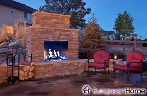 Interior Design by European Home seen at Private Residence, Middleton - J Series 40H Outdoor Gas Fireplace