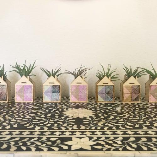 Mini House Airplant Holder | Vases & Vessels by Nosheen iqbal