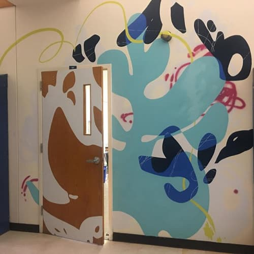Murals by Lisa Rachel Horlander seen at All Saints Episcopal School, Tyler - Mural