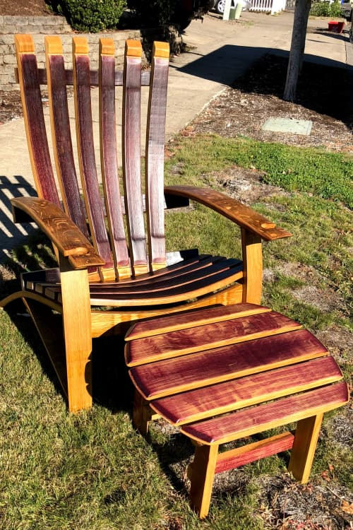 Wine Barrel Rocking Chair | Chairs by RAW Woodworks | Dion Vineyard in Cornelius