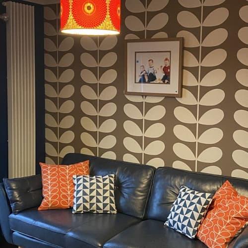 Lamps by MyAnkaralove seen at Private Residence, Ipswich - Orange Circles Lampshade