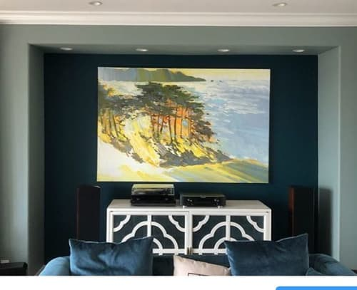 """""""Above Baker Beach"""" oil painting 