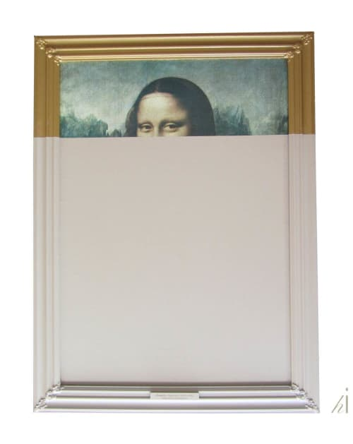 Paintings by Habitat Improver - Furniture Restyle and Applied Arts seen at Creator's Studio, Lisbon - Peekaboo Monalisa