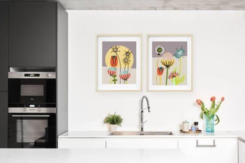 Paintings by Birdsong Prints seen at Creator's Studio, Denver - Set of 2 Floral Painting Print