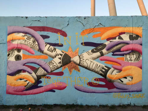Corona Mural 'In It Together' | Murals by BS Just More (Bulky Savage) | Mauer park in Berlin