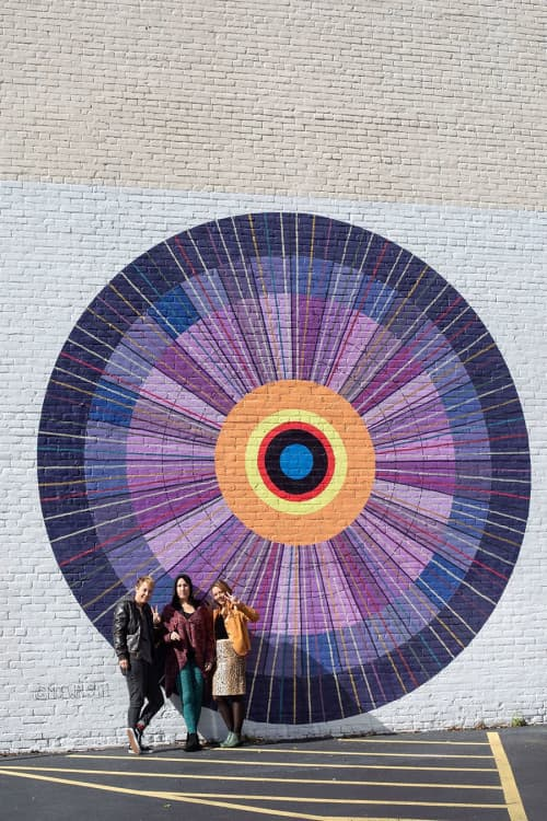 Street Murals by Maureen Walsh seen at Willow Room Salon & Studio, Lakewood - Metta