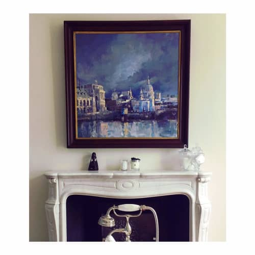 Paintings by Phoebe Dickinson seen at Private Residence, London - Moody Sky Over St. Paul