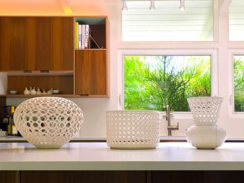 Sculptures by Lynne Meade at Private Residence, Palo Alto, Palo Alto - Lacy Cylindrical Bowl