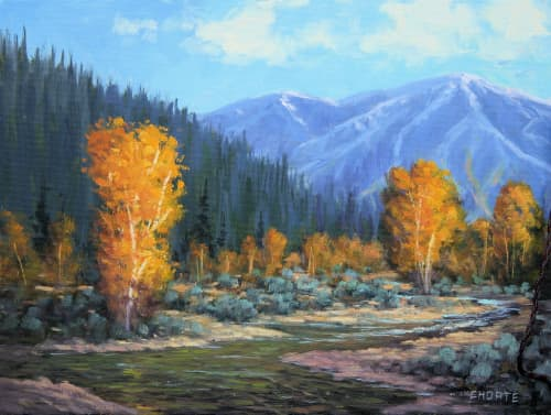 Paintings by Fred Choate Fine Art - Ketchum Fall