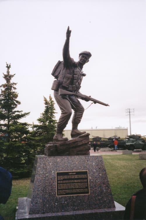 Let's Go | Public Sculptures by Don Begg / Studio West Bronze Foundry & Art Gallery | The Loyal Edmonton Regiment Military Museum in Edmonton
