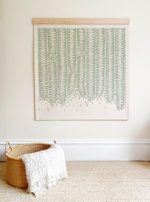 "Fern Canyon Tapestry 50x50"" Maple Beam   Paintings by Anastasia Tumanova"