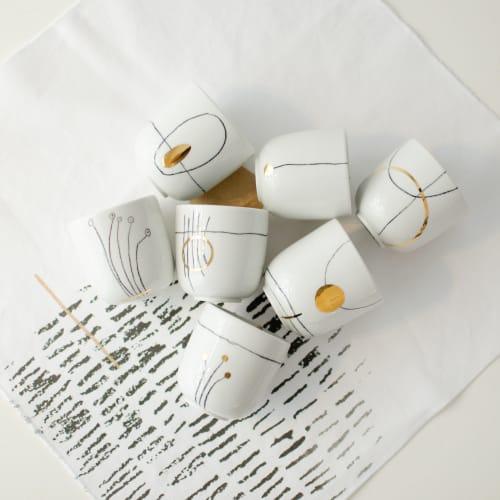 Cups by Boya Porcelain seen at Creator's Studio, Beograd - Nova Cup, Cappuccino and Espresso size