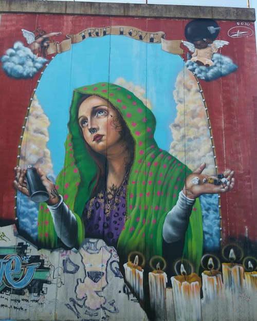 virgen de las boquillas | Murals by El ROJO... graffitero  , dedicado a dar color en lugares grises