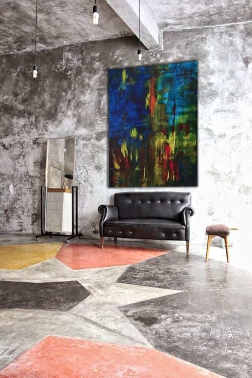 Paintings by Marco Domeniconi Studio seen at Creator's Studio, New York - Terra Ferma