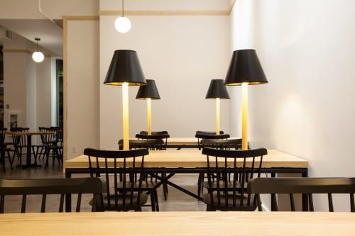 Custom Lamp Tables   Tables by Trey Jones Studio   Broadcast Coffee in Seattle