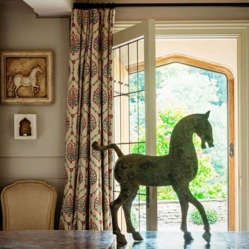 """Curtains & Drapes by Chelsea Textiles seen at Private Residence - """"Shayla"""""""
