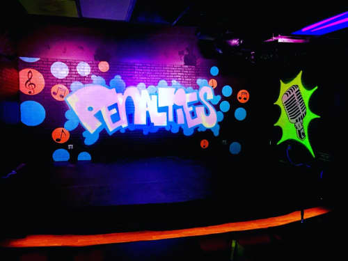 Indoor Stage Mural   Murals by Ryan Frizzell (The Rhinovirus)
